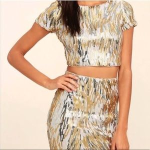 Lulu's 2 Piece Sequin Dress
